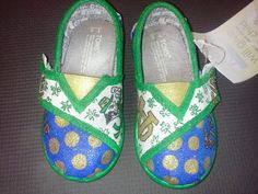 Tiny Notre Dame hand painted TOMS by MyHeartToYourSole on Etsy, $70.00