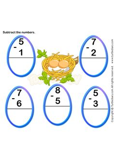 math worksheet : subtraction worksheet 7  math worksheets  kindergarten  : Free Online Kindergarten Worksheets