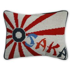 Jonathan Adler needlepoint pillow.  Ridiculously $98...and if I had money to burn I would buy it.