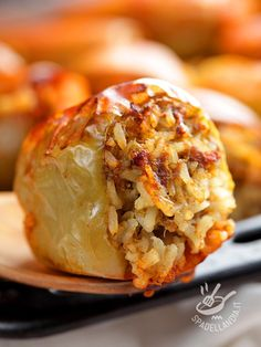 Kiss The Cook, Potato Pancakes, Carne, Italian Recipes, Baked Potato, Love Food, Food And Drink, Potatoes, Tasty