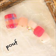 ネイルデザインランキング | 今週の人気ネイル | ネイルブック Cute Pedicure Designs, Toe Nail Designs, Cute Toe Nails, Love Nails, Pedicure Nail Art, Toe Nail Art, Office Nails, Feet Nail Design, Cute Pedicures