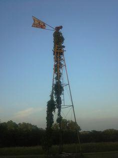 Kansas windmill at sunset
