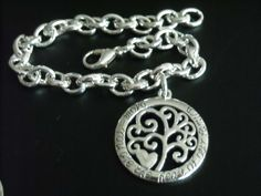 """New ~ Silver Filigree Family Tree Heart Pendant with words """"Mom You are the heart of our family"""" Bracelet & Necklace SET~ MOTHER GIFT by GlamRusJewels on Etsy"""