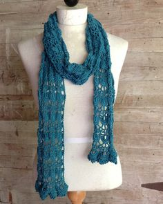Picture of Shells & Lace Scarf Crochet Pattern shell lace, crochet patterns, scarv