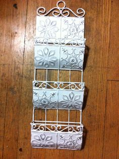 White Chic wall mount mail shabby in out box Letter holder Office bill organizer