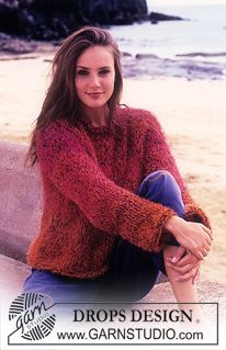 DROPS 65-1 - DROPS Sweater in Muskat, Pelliza and Tynn Chenille. - Free pattern by DROPS Design