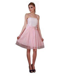 Donna Bella Bridesmaid Party Knee Length Dress - Colour: Pink £29.95