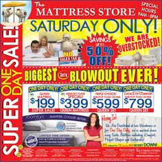 This weekend ONLY at The Mattress Store!