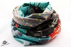 Bunter Loop aus Baumwolle der #Lieblingsmanufaktur: Farbenfrohe Loop Schals, Tücher und mehr
