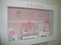 miniaturas em madeira para quadros de maternidade - Pesquisa do Google 3d Box Frames, Box Frame Art, Vitrine Miniature, Miniature Rooms, Marco Ikea, Ideas Habitaciones, Bohemian Nursery, Baby Frame, Small Cabinet