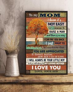 Perfect Gifts To My Husband Poster | Family Love Gifts Great Gifts For Wife, Perfect Gift For Mom, Love Gifts, Best Gifts, How Far I Go, Family Tees, I Love Mom, Love Your Life