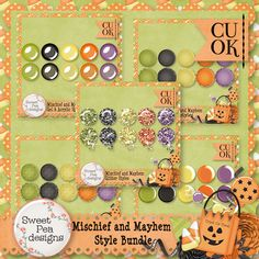 Mischief and Mayhem Style Bundle - $5.00 : Sweet Pea Designs, Making Memories Last