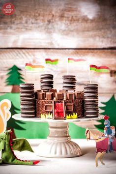 Ritter-Kindergeburtstag-Burg-Torte