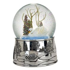 Swan LakeChristmas Snowglobe ($55) ❤ liked on Polyvore