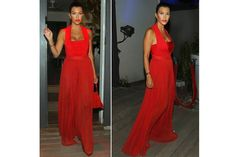 Kourtney Khardashian in head-to-toe red in St. Barthes.