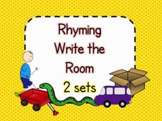 $3.00 Rhyming Write the Room - 2 sets