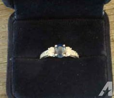 Beautiful sapphire and diamond platinum ring - $1200 (North Raleigh)