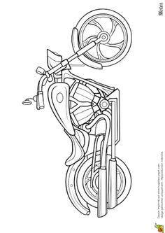 Coloriage Moto Retro