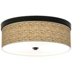 Seagrass Giclee Energy Efficient Bronze Ceiling Light bedrooms