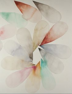 Touching drops spiral watercolor on paper 21¨x29¨