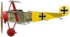 Fokker Dr.I Unit: Jasta 11 Serial: Dr.454/17 Pilot - CO of Jasta 11, Lt.Lothar von Richthofen. France, March-April 1918. Flown this aircraft...