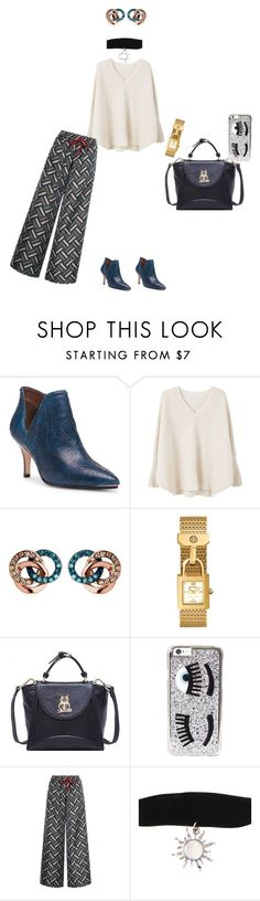 """""""Untitled #3594"""" by ayse-sedetmen ❤ liked on Polyvore featuring Donald J Pliner, MANGO, Links of London, Tory Burch, Chiara Ferragni and F.R.S For Restless Sleepers"""
