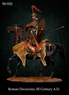 Decurion, Commander of Roman cavalry Roman Soldiers, Toy Soldiers, Military Art, Military History, Ancient Rome, Ancient History, Roman Warriors, Roman Era, Roman Sculpture