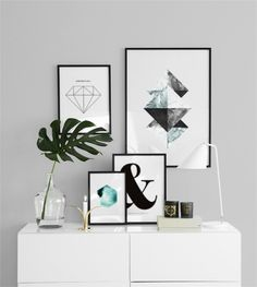 Make your walls look fab with graphical prints in the bedroom. We have posters for all different interior styles, www.desenio.com