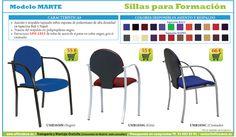 sillas para salas de formación, audiovisual, conferencias. Sillas de oficina