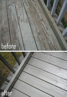 "Jenna Burger from SAS Interiors shows steps A-Z on taking a deck from ""ow"" to ""WOW"" using Cabot Stain - Solid in Burnt Hickory. Now That's Pro. #deck #stain #outdoor"
