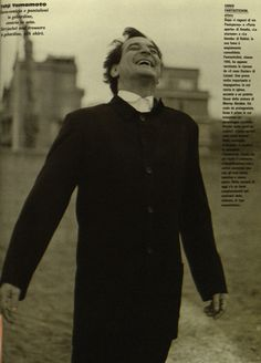ennio fantastichini  in yohji yamamoto / 1993  l'uomo vogue