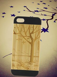 bamboo iphone 5 case / bamboo iphone 5scase / iphone 5 case / tree on iphone case