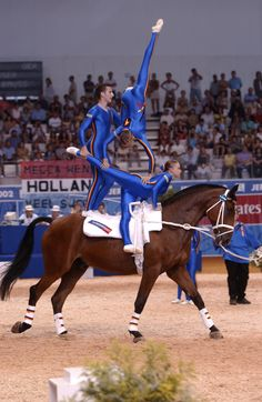 German Team in the Vaulting competition at the 2002 WEG in Jerez, Spain ©FEI