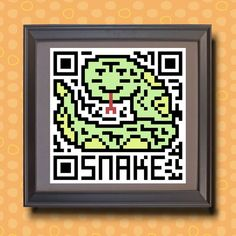 585 Snake Asian zodiac animal as QR code by TwoBananasArt on Etsy, $20.00