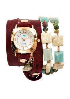 On ideel: LA MER COLLECTIONS Ladies Wrap Around Stone Watch
