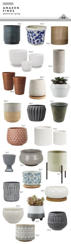 Amazon Finds : Planters for Spring - Room for Tuesday