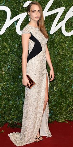 The Best Looks from the 2014 British Fashion Awards Red Carpet - Cara Delevingne from #InStyle