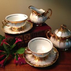 Vintage Bavaria type tea for two set  includes by FromTheSeller