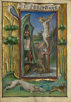 Taddeo Crivelli - Saint Jerome in the Desert. 1469
