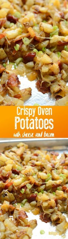 Crispy Oven Potatoes with Cheese and Bacon ~ They taste just like Outback Steak House Cheese Fries. Potato Recipes, New Recipes, Cooking Recipes, Favorite Recipes, Potato Snacks, Snacks Recipes, Bacon Recipes, Cooking Tips, Gastronomia