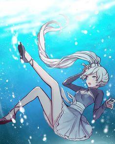 Source: RWBY #art #anime #rwby #weiss #water