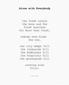 Alone with Everybody - Charles Bukowski