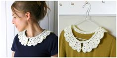 A while ago I tried something new with crochet... I made a collar!   It was much more simple than I thought it would be.  You ca...