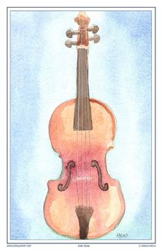 Watercolor Violin poster.