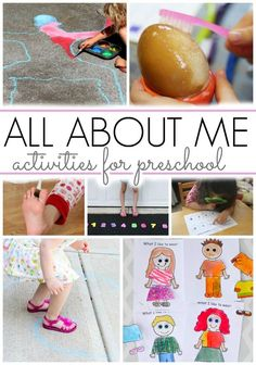 All About Me Activities for Preschoolers