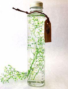 植物ノ瓶詰メ標本collection(ハーバリウム) ミニカスミソウ ホワイト&グリーン)|フラワー・リース|花職人工房|ハンドメイド通販・販売のCreema