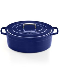 Martha Stewart Collection Collector's Enameled Cast Iron 8 Qt. Oval Casserole | 40% OFF