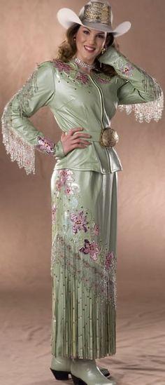 Jessica West, Miss Rodeo Washington 2006 wears a cool mint lambskin ...300 x 698   37.5 KB   dantonleather.com