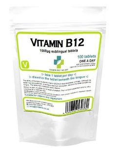 Vitamin B12 1000mcg Sublingual – 100 Tablets - http://vitamins-minerals-supplements.co.uk/product/vitamin-b12-1000mcg-sublingual-100-tablets/