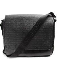 f61ed19c2c6 Armani Jeans   Black Logo Messenger Bag   Lyst Mens Satchel, Armani Jeans,  Messenger